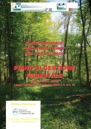 PIANO GESTIONE FORESTALE 1 - Amici Parco del Ticino