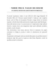 Regolamento per il taglio dei boschi in assenza - Regione Basilicata