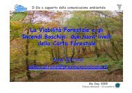 due nuovi livelli della Carta Forestale - Provincia di Bologna