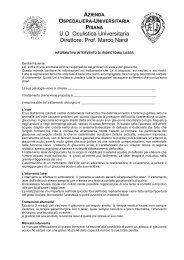 Intervento di iridotomia YAG-LASER - Clinica Oculistica ...