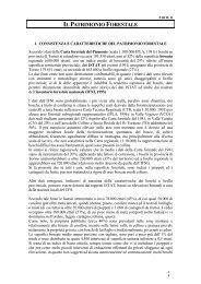 IL PATRIMONIO FORESTALE - Sistema Piemonte