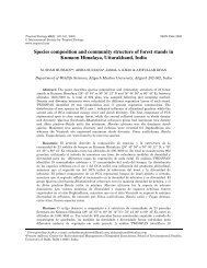 Species composition and community structure of forest stands in ...
