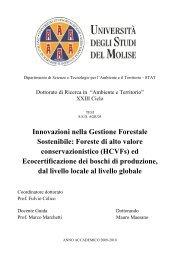 Innovazioni nella Gestione Forestale Sostenibile - Repository of ...