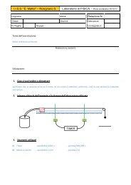IISS Mattei - FISICA - Relazione sul moto rettilineo uniforme