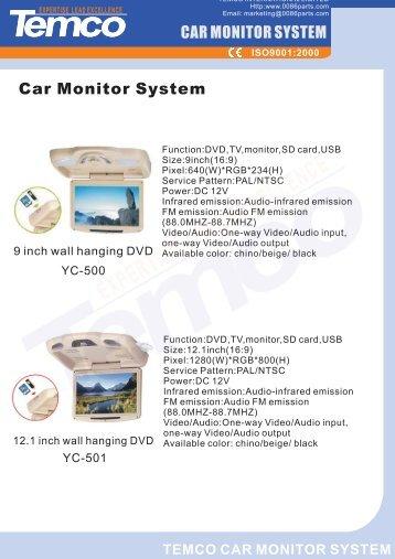 Car Video, Monitor System & Parking Sensor - Temco supplies ...