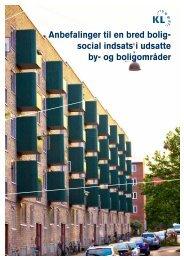 Anbefalinger til en bred bolig- social indsats i udsatte by- og ...