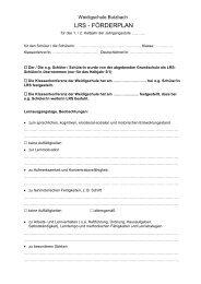 LRS - FÖRDERPLAN - der Weidigschule Butzbach