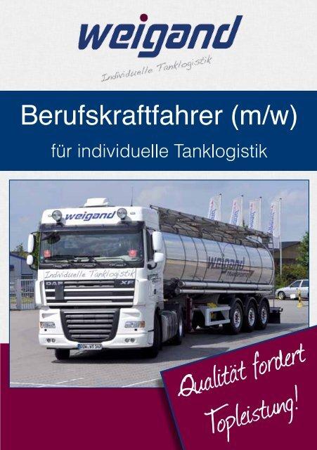 m/w - Weigand Transporte und Tanklogistik