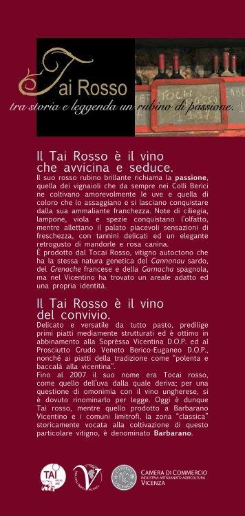 Inserto Tai Rosso - Consorzio Tutela Vini Colli Berici e Vicenza