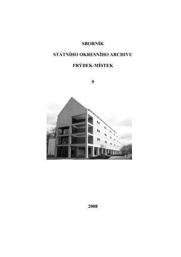 SOkA_FM_Sbornik_9 - Zemský archiv v Opavě