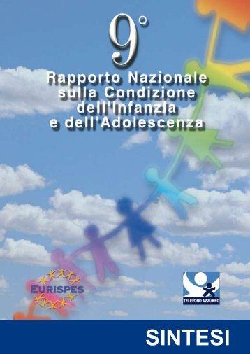 SINTESI 9 Rapporto Nazionale sulla Condizione ... - Telefono Azzurro