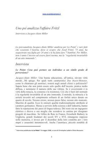 Scarica pdf - Scuola Lacaniana di psicoanalisi