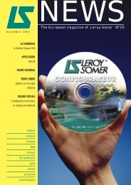 The European magazine of Leroy-Somer N°10 LA SCOMMESSA ...