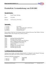 Protokoll der Vorstandssitzung vom 25.09.2003 - Bürgernetz ...
