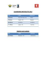 CALENDARIO MOTOSLITTE 2013 TROFEO SUD ... - Motowinners