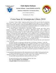 Corso base di Arrampicata Libera 2010 - CAI Sezione di Napoli