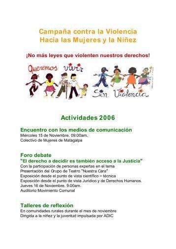 Campaña contra la Violencia Hacia las Mujeres y la Niñez