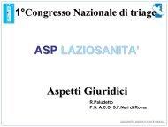 Diapositiva 1 - Agenzia di Sanità Pubblica della Regione Lazio