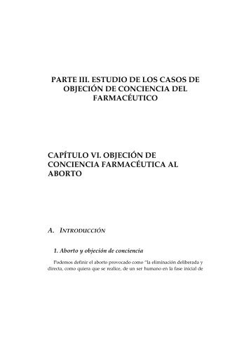 07. Objeción de conciencia farmacéutica al aborto - Etica e Politica