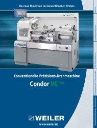 Condor VCplus - Weiler Werkzeugmaschinen GmbH