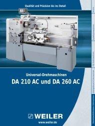 DA 210 AC und DA 260 AC - Weiler Werkzeugmaschinen GmbH
