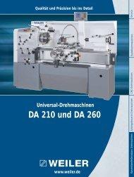Modell DA 210 und DA 260 - Weiler Werkzeugmaschinen GmbH