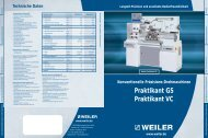 Praktikant GS Praktikant VC - Weiler Werkzeugmaschinen GmbH