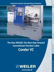 Condor VC - Weiler Werkzeugmaschinen GmbH