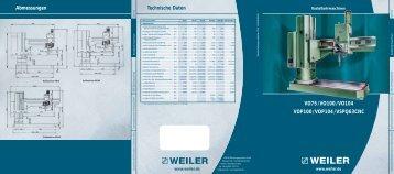Radialbohrmaschinen - Weiler Werkzeugmaschinen GmbH