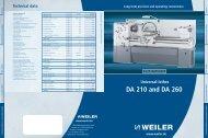 WEILER DA Series - Weiler Werkzeugmaschinen GmbH