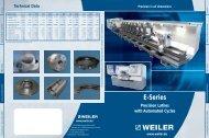 E-Series - Weiler Werkzeugmaschinen GmbH