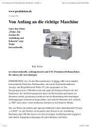 Von Anfang an die richtige Maschine | Produktion – Technik und ...