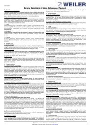 WEILER AGB's english 03.2011 - Weiler Werkzeugmaschinen GmbH