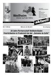 2013 Mitteilungsblatt Nr. 11 - Gemeinde Weilheim / Baden