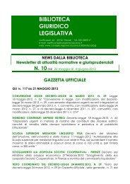 BIBLIOTECA GIURIDICO LEGISLATIVA - Consiglio Regionale della ...
