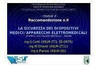 Giancarlo Conti. Raccomandazione n9 - Agenzia Regionale Sanitaria