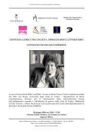Esistenza lesbica tra società, immaginario e letteratura - Città di Torino