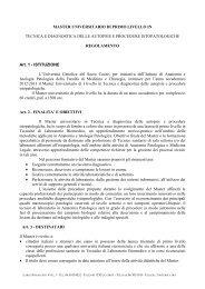 Regolamento - Università Cattolica del Sacro Cuore
