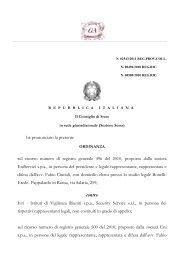 Consiglio di Stato, Sez. VI, 29.4.2011, n. 2543 - Gazzetta ...