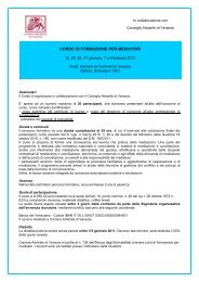 Scarica il programma - Fondazione Italiana del Notariato