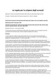 Codice di autoregolamentazione - ufficiale giudiziario su internet ...