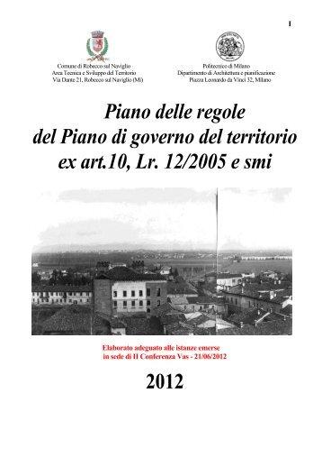Piano delle regole del Piano di governo del ... - Rivista on-line
