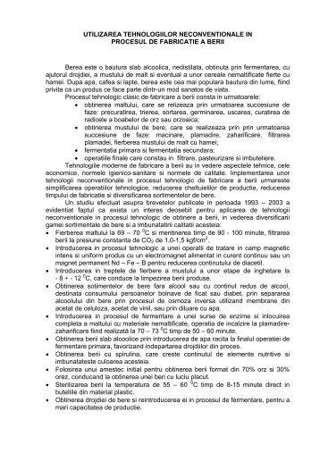 Utilizarea tehnologiilor neconventionale in procesul ... - cttecotech.ro