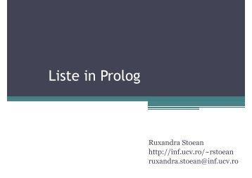 Liste in Prolog