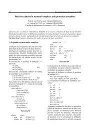Referirea datelor în structuri complexe prin proceduri assembler