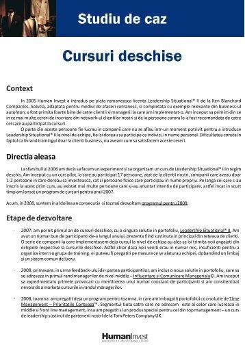 Studiu de caz.cdr - Human Invest