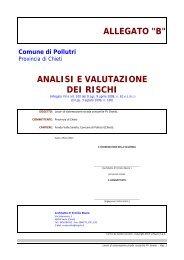 Analisi e Valutazione rischi - sito in costruzione