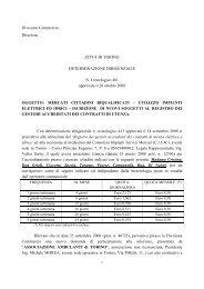 Consulta la determina n. 481 - Città di Torino