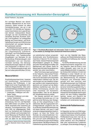 Rundheitsmessung mit Nanometer-Genauigkeit - METAS
