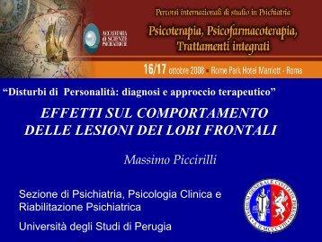 Disturbi del comportamento da lesione prefrontale